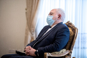 Iranian Foreign Minister, Mohammad Javad Zarif, is seen during the meeting between Swiss Foreign Minister, Ignazio Cassis, and Iranian President, Hassan Rouhani, Tehran, Iran, September 7, 2020.
