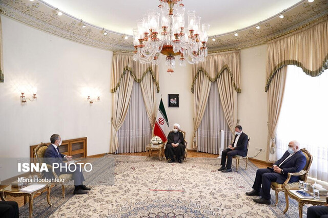President Rouhani says history has shown that Iranians won't surrender to bullying