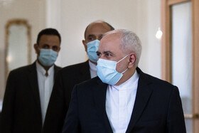 Iranian Foreign Minister, Mohammad Javad Zarif, is seen before the beginning of his meeting with Indian Minister of External Affairs, Subrahmanyam Jaishankar, Tehran, Iran, September 8, 2020.