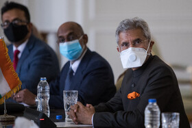 Indian Minister of External Affairs, Subrahmanyam Jaishankar, is seen during his meeting with Iranian Foreign Minister, Mohammad Javad Zarif, Tehran, Iran, September 8, 2020.
