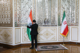 On the sidelines of the meeting between Iranian Foreign Minister, Mohammad Javad Zarif, and Indian Minister of External Affairs, Subrahmanyam Jaishankar, Tehran, Iran, September 8, 2020.