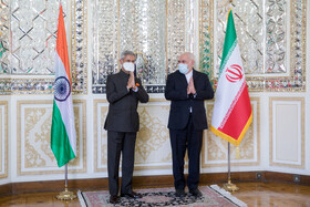 The meeting between Iranian Foreign Minister, Mohammad Javad Zarif, and Indian Minister of External Affairs, Subrahmanyam Jaishankar, Tehran, Iran, September 8, 2020.