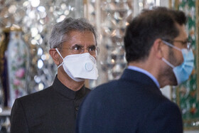 Indian Minister of External Affairs, Subrahmanyam Jaishankar, is seen before the beginning of his meeting with Iranian Foreign Minister, Mohammad Javad Zarif, Tehran, Iran, September 8, 2020.