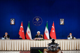 The joint videoconference meeting of high-level delegations of Iran and Turkey, Tehran, Iran, September 8, 2020.