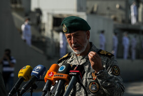 The news conference on the joint drills of Zolfaghar-99 is held in the presence of Deputy coordinator of Iran's Army Rear Admiral Habibollah Sayyari, Iran, September 9, 2020.