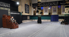 A mourning ceremony is held on the occasion of the martyrdom anniversary of Imam Sajjad (PBUH) in the presence of Iran's Supreme Leader Ayatollah Ali Khamenei, Tehran, Iran, September 14, 2020.