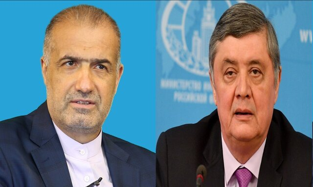 Iran, Russia exchange views on latest developments in Afghanistan
