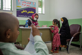 A medical center set up by the Iranian Red Crescent Society is seen in the photo, Sistan-Baluchestan, Iran, September 17, 2020.