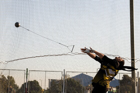 Iranian hammer thrower, Reyhaneh Arani, beats the national record with a throw of 57.15 meters, Tehran, Iran, September 20, 2020.