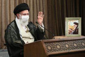 Iran's Supreme Leader Ayatollah Ali Khamenei is seen before delivering his speech via videoconferencing in a ceremony honoring the veterans of the Sacred Defense, Tehran, Iran, September 21, 2020.