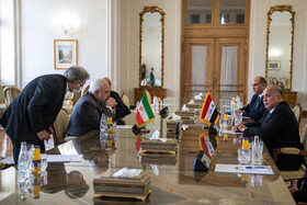 The meeting between Iranian Foreign Minister, Mohammad Javad Zarif, and Iraqi Foreign Minister, Fuad Hussein, Tehran, Iran, September 26, 2020.