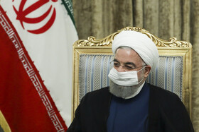 Iranian President, Hassan Rouhani, is seen during his meeting with Iraqi Foreign Minister, Fuad Hussein, Tehran, Iran, September 26, 2020.