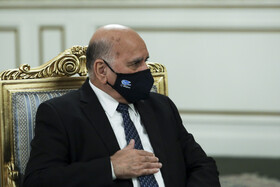 Iraqi Foreign Minister, Fuad Hussein, is seen during his meeting with Iranian President, Hassan Rouhani, Tehran, Iran, September 26, 2020.