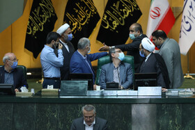 The public session of Iran's Parliament, Tehran, Iran, September 27, 2020.