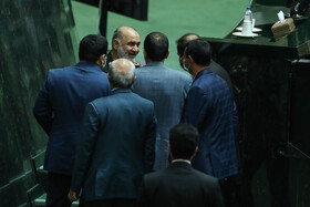 The public session the Parliament, Tehran, Iran, September 29, 2020. During today's session, MPs voted in favor of Alireza Razm Hosseini, the proposed Minister of Industry, Mining and Trade.