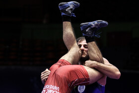 The freestyle wrestling competitions of Iranian clubs, Tehran, Iran, October 1, 2020.