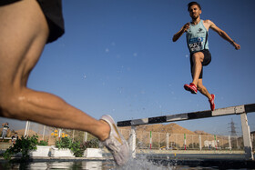 The national men track and field competitions of Iranian clubs, Tehran, Iran, October 2, 2020.
