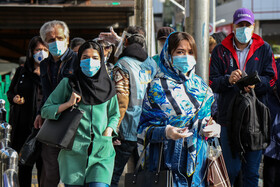 People of Tehran are seen on the first day of compulsory face-mask rule, Iran, October 10, 2020.