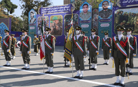 The joint graduation ceremony for the cadets, who study at the academies of Iran's Armed Forces is held in Tehran, Iran, October 12, 2020.