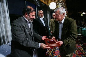 Akbar Alami, Iranian university professor, film critic, film director, and TV presenter, is seen in the photo, Iran.