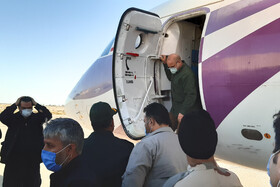 Iran's Parliament Speaker, Mohammad Bagher Ghalibaf, arrives in Sistan-Baluchestan province, Iran, October 13, 2020.