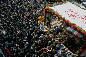 The funeral of Khan Tuman martyrs is held in Mazandaran, Iran, October 15, 2020.