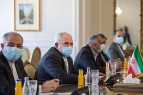Iranian Foreign Minister, Mohammad Javad Zarif (2nd, left), is seen during his meeting with Abdullah Abdullah, the head of Afghanistan's High Council for National Reconciliation, Tehran, Iran, October 18, 2020.