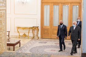 On the sidelines of the meeting between Abdullah Abdullah, the head of Afghanistan's High Council for National Reconciliation, and Iranian Foreign Minister, Mohammad Javad Zarif, Tehran, Iran, October 18, 2020.