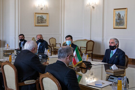 The meeting between Abdullah Abdullah, the head of Afghanistan's High Council for National Reconciliation, and Iranian Foreign Minister, Mohammad Javad Zarif, Tehran, Iran, October 18, 2020.