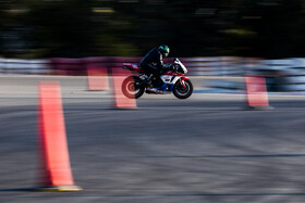 A motorcycle race is held on the occasion of the Police Week, Tehran, Iran, October 20, 2020.
