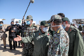 The first day of the large-scale drills called Modafe'an-e Aseman-e Velayat 99 (Guardians of Velayat Sky 99), Semnan, Iran, October 20, 2020.