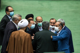 On the sidelines of the open session of Iran's Parliament, Tehran, Iran, October 21, 2020.