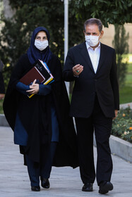 On the sidelines of the session of Iran's Cabinet Ministers, Tehran, Iran, October 21, 2020.