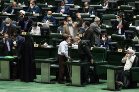 The open session of the Parliament, Tehran, Iran, October 21, 2020.