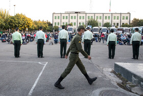 A ceremony in which young people have been called up for military service, Tehran, Iran, October 22, 2020.
