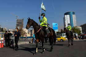 Mounted police officers are seen as they stage a parade on the occasion of the Police Week, Tehran, Iran, October 22, 2020.
