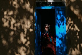 A villager living in one of the villages of Sirvan region is seen in the photo, Kurdistan, Iran, October 27, 2020.