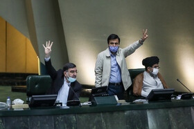 On the sidelines of the open session of Iran's Parliament, Tehran, Iran, October 26, 2020.