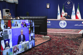 The 20th meeting of the Council of Heads of State of the Shanghai Cooperation Organisation is held through videoconferencing, Tehran, Iran, November 10, 2020.