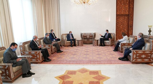 Iranian diplomat meets Syrian president in Damascus