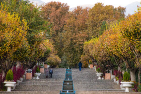 The scenery of Tehran in autumn, Iran, November 15, 2020.