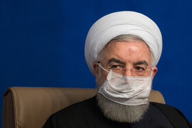 Iranian President, Hassan Rouhani, is seen during the meeting of the final review for imposing dynamic restrictions against the coronavirus, Tehran, Iran, November 16, 2020.