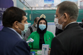 Iran's First Vice-President, Es'haq Jahangiri, attends the unveiling ceremony of COVID-19 rapid antigen detection kits, Tehran, Iran, November 17, 2020. The accuracy of the detection kits is 85 percent.