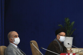 The session of the Supreme Council of Cultural Revolution is held in the presence of Iran's senior officials, Tehran, Iran, November 17, 2020.