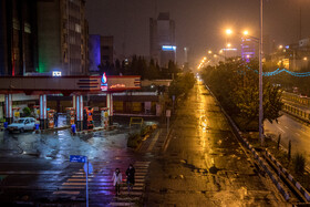 The first night of the new restrictions as Tehran enters a lockdown for two weeks, Tehran, Iran, November 21, 2020.