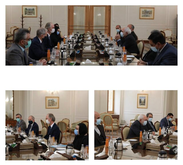 Iran FM Zarif, UN envoy discuss Syria developments
