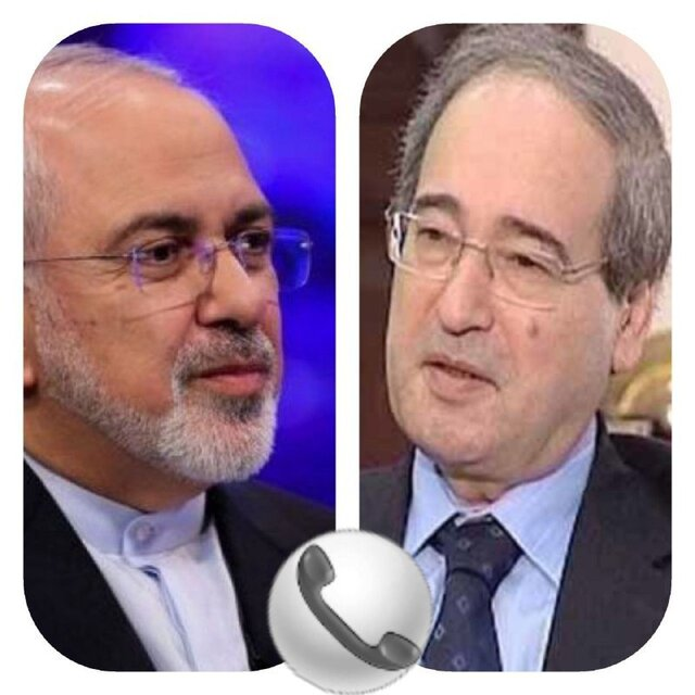 Iranian, Syrian Foreign Ministers hold phone talks