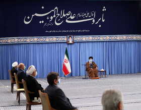The session of the Supreme Council of Economic Cooperation is held in the presence of Iran's Supreme Leader Ayatollah Ali Khamenei, Tehran, Iran, November 24, 2020.