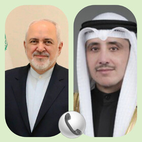 Foreign Minister Zarif, Kuwaiti counterpart hold phone talks