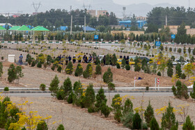 Beheshte Masoumeh Cemetery is seen in the photo as coronavirus cases, and deaths are on the decline, Qom, December 5, 2020.